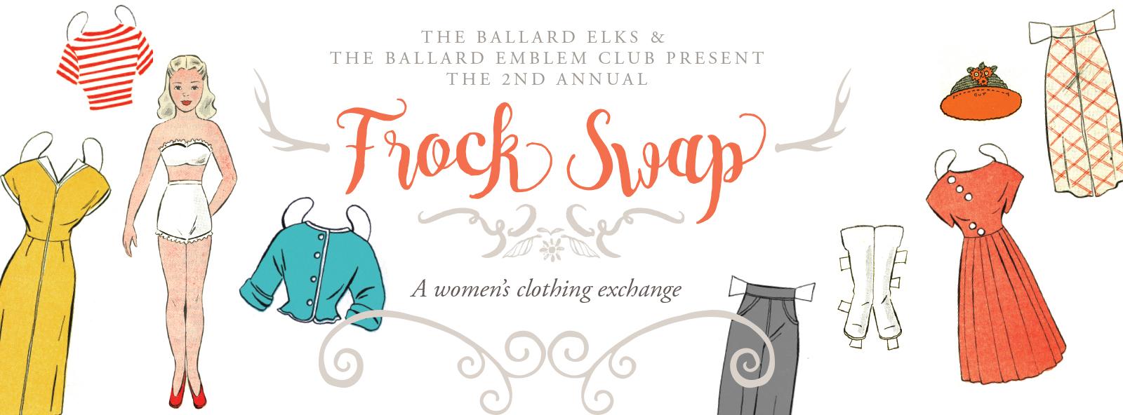 2nd Annual Frock Swap - A women's clothing exchange @ Ballard Elks Lodge   Seattle   Washington   United States