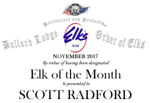 Elk of the month header November