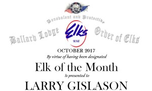 Elk of the month header October