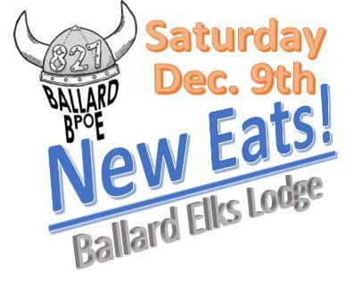 New Menu Ballard Elks Lodge 827